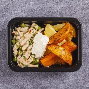 weight loss meal Char-grilled Chicken with potato wages