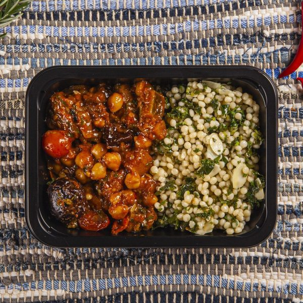 Moroccan Eggplant and Chickpea Tagine, Vegan meal